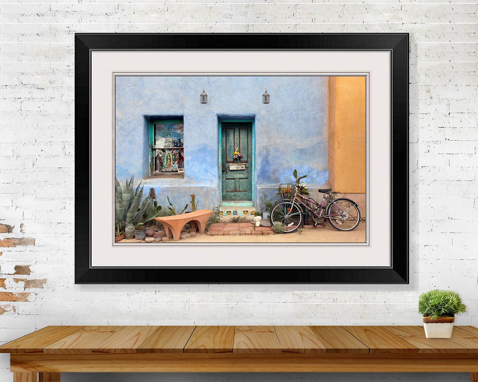 Blue Adobe Soutwest Home