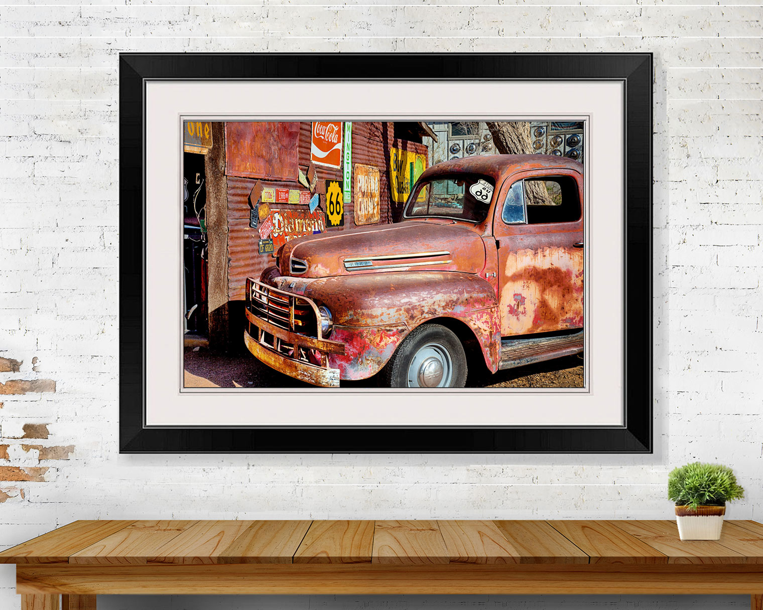 Red Rusty Route 66 Truck